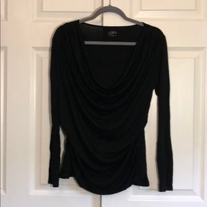 LOFT Drapey Black Top